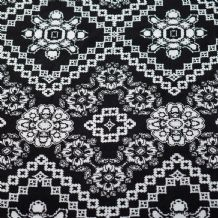 Black & White Geometric Pattern - 100% Viscose Print